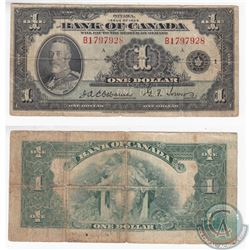 1935 English $1.00 Note in VG-F. The note has two holes.