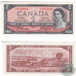 1954 $2.00 Note with a Serial Number that is almost all 4s.