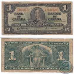 1937 Narrow Panel Variety $1.00 Note with H/A Prefix in VG-F.