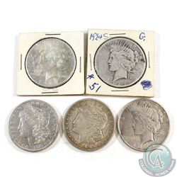Lot of 1879-1928 United States Dollar Collection. You will receive the following dates: 1879, 1921,