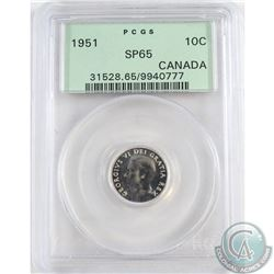 1951 Canada 10-cent PCGS Certified SP-65