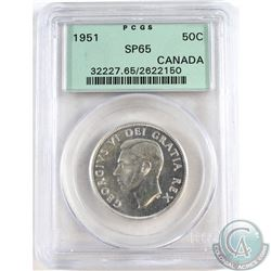 1951 Canada 50-cent PCGS Certified SP-65