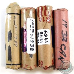 Estate Lot of Canada 1-cent Rolls. You will receive the following Rolls: 1932, 1939, 1937-1938, & 19