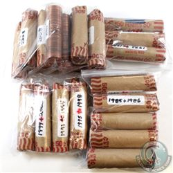 Estate Lot of Mixed Canada 1-cent Rolls dating 1960 to 2012. Please note each Roll contains multiple