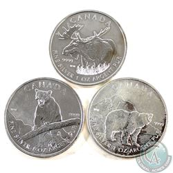 2011-2012 Canada $5 Wildlife Series Fine Silver Maples (Tax Exempt). You will receive the 2011 Grizz