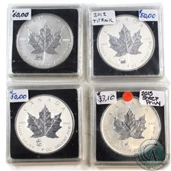 1998-2015 Canada $5 Privy Silver Maples (Tax Exempt). You will receive the 1998 Tiger Privy, 2012 Ti