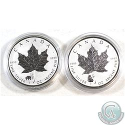 2016 & 2017 Canada $5 Panda Privy Silver Maples (Tax Exempt). Please note coins may have faint spott