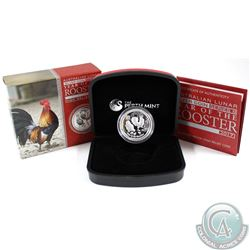 2017 Australia $1 Year of the Rooster High Relief 1oz Silver (No Tax)