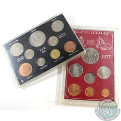 1965 & 1977 Great Britain Commemorative Coin Sets. Set are impaired. 2pcs