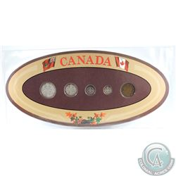 1919 Canada 5-coin Year Set in Decorative Holder