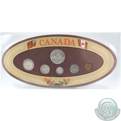 1947 Blunt 7 Canada 6-coin Year Set in Decorative Holder