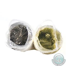 Estate Lot of 2x Canada 25-cents & Loon $1 Original Rolls. You will receive 2003P New Effigy 25-cent