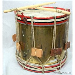 REENACTMENT WAR DRUM WITH STICKS