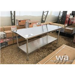 "30X72"" STAINLESS STEEL TABLE"