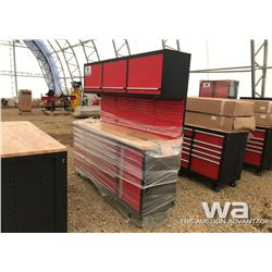 RED TOOL BENCH UPPER CABINETS