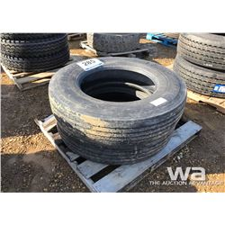 (2) MICHELIN 11R24.5 STEERING TIRES