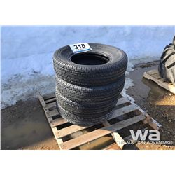 (4) AUTO GRIP ST225/75R15 TRAILER TIRES