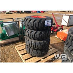(4) HONOUR 12X16.5 SKID STEER TIRES WITH RIMS