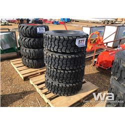 (4) MARCHER 12X16.5 SKID STEER TIRES