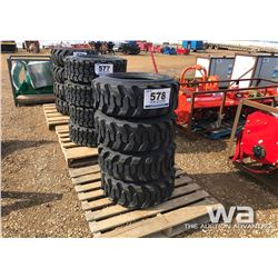 (4) 10X16.5 12PLY SKID STEER TIRES