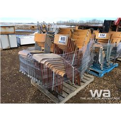 PALLET OF STACKING CHAIRS