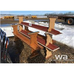 (7) WOOD BENCHES