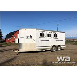 1996 EXISS 716 T/A HORSE TRAILER