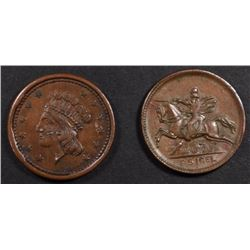 2-CIVIL WAR TOKENS: UNION FOREVER & OUR NAVY