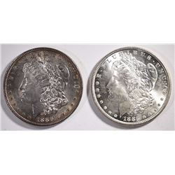 1885 & 1886 MORGAN DOLLARS