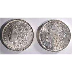 1886 & 1891 BU MORGAN DOLLARS