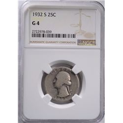 1932 S WASHINGTON QUARTER, NGC-G4