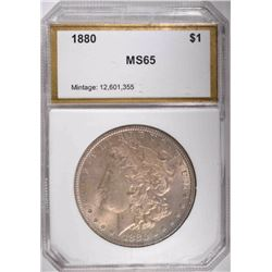 1880 MORGAN DOLLAR, PCI GEM BU