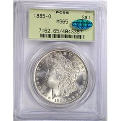 1885-O MORGAN DOLLAR, PCGS MS-65 CAC OGH