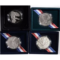 4 - SILVER COMMEM DOLLARS; 1991 KOREA