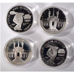 2 - 1984 OLYMPIC 2pc SILVER PROOF SETS