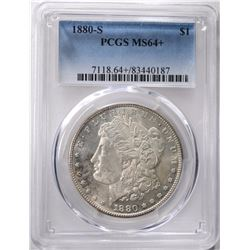 1880-S MORGAN DOLLAR PCGS MS64+