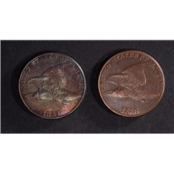 1857 FINE & 1858 VF FLYING EAGLE CENTS