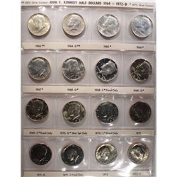 1964-2016 (148 coins) KENNEDY HALF DOLLAR SET