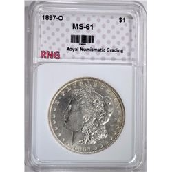 1897-O MORGAN SILVER DOLLAR, RNG CHOICE BU