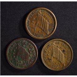 3-CIVIL WAR TOKENS