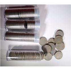 "4-ROLLS OF CIRC LIBERTY ""V"" NICKELS"