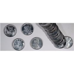 """BU ROLL OF 1943 LINCOLN """"STEEL"""" CENTS"""