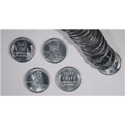 """BU ROLL OF 1943-D LINCOLN """"STEEL"""" CENTS"""