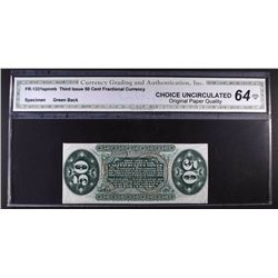 1863 THIRD ISSUE 50 CENT FRACTIONAL CURRENCY