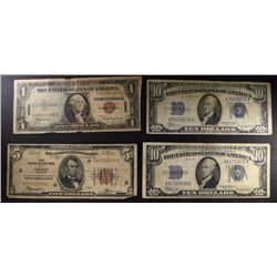 CURRENCY LOT; ALL CIRCS: 1929 $5 FRB CHICAGO IL;