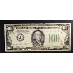 1934 $100 FEDERAL RESERVE NOTE, VG