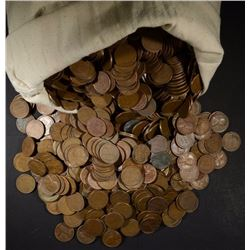 5000 LOOSE MIXED DATE CIRC LINCOLN WHEAT CENTS