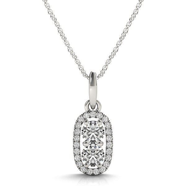 Image result for OUTER OVAL SHAPED TWO STONE DIAMOND PENDANT IN 14K WHITE GOLD (5/8 CT. TW.)