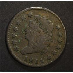 1814 CLASSIC HEAD LARGE CENT, VG porosity