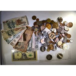 BAG FULL OF FOREIGN COINS,